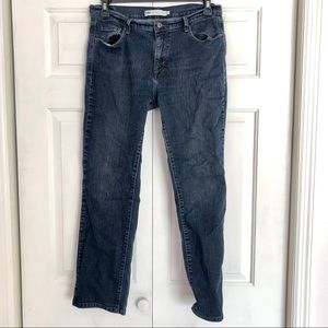 Levi's 505 straight leg denim blue jeans pants